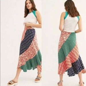 NWT Free People hidden earth maxi skirt size 6